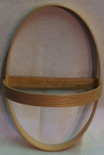 Oval Key Basket Frame Set 12 X 8 X 5