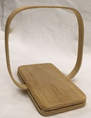 Basket Frame with Wood Handle