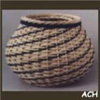 Diagonal Weave Wicker Basket